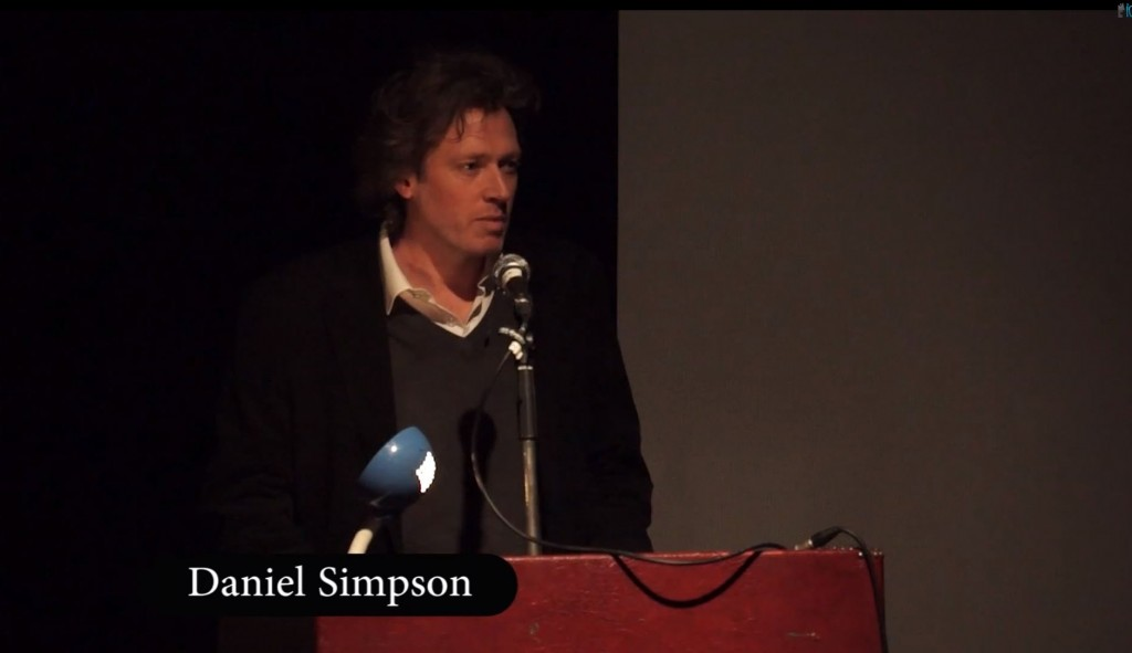 Daniel Simpson at the Recreate / Film Suffolk Conference