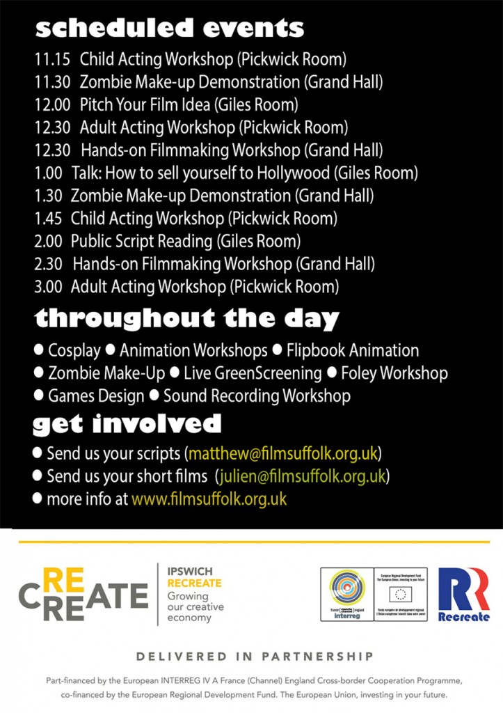 Ipswich Film Day Flyer -  back