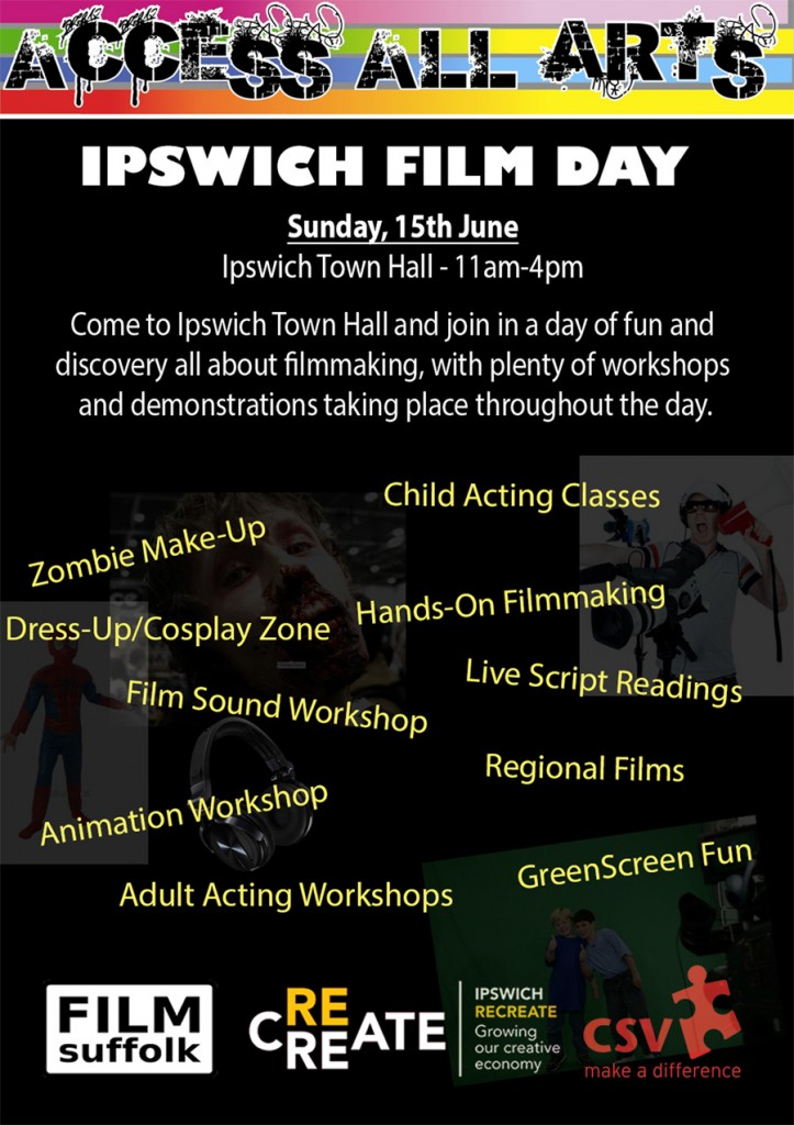 Ipswich Film Day Flyer - front