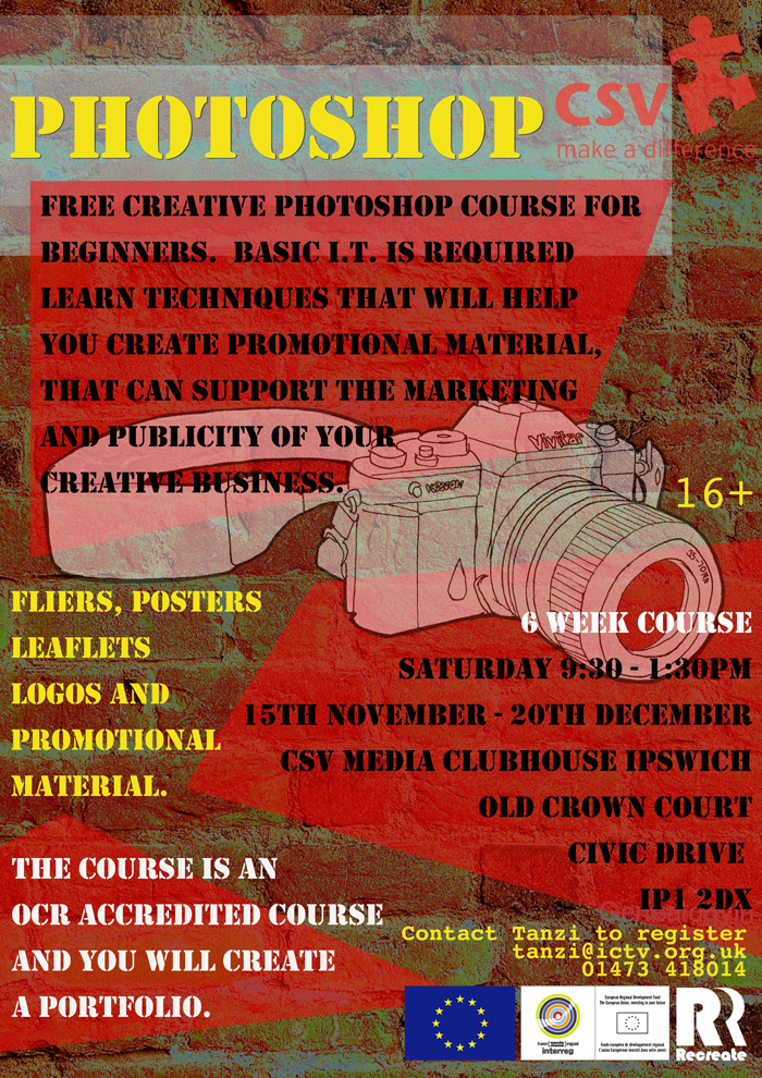 Photoshop course Recreate poster